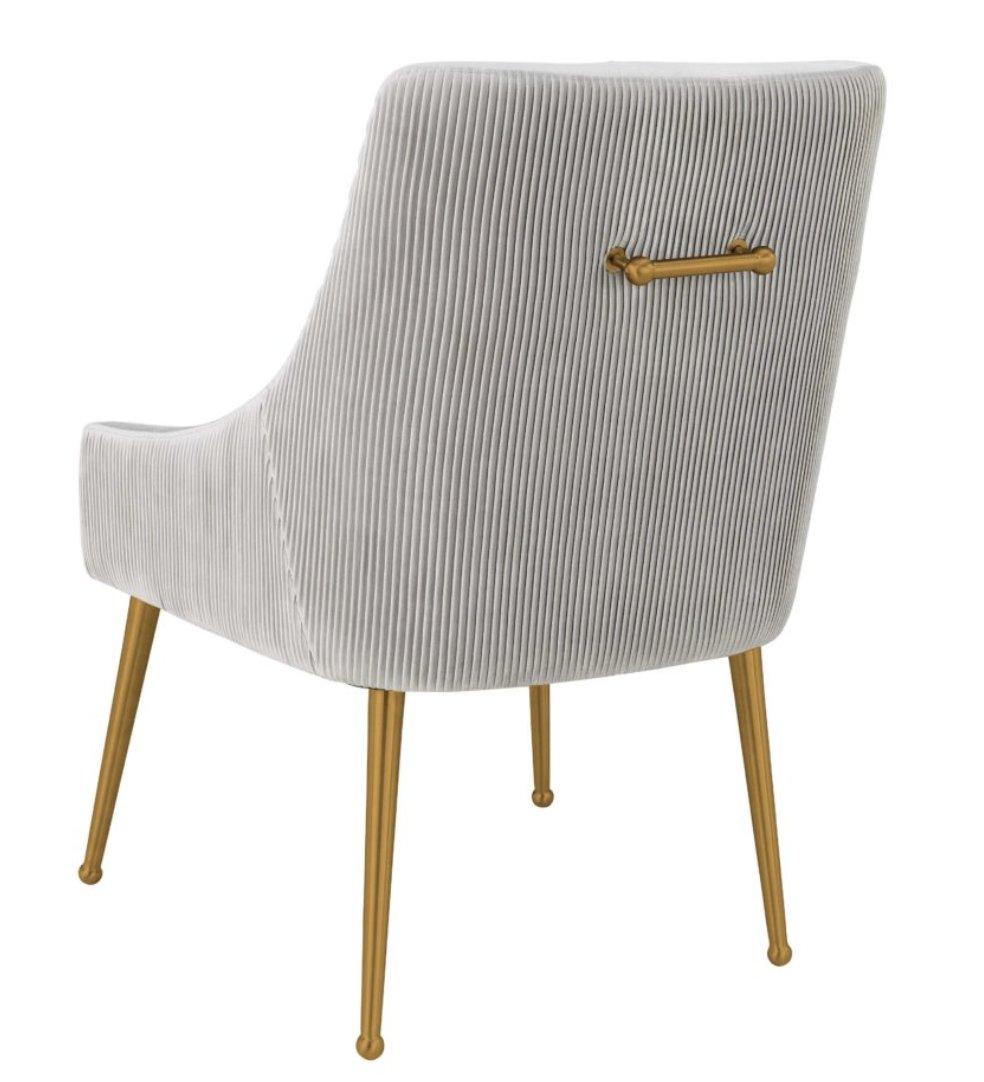 Skyler Pleated Light Morgan Velvet Side Chair