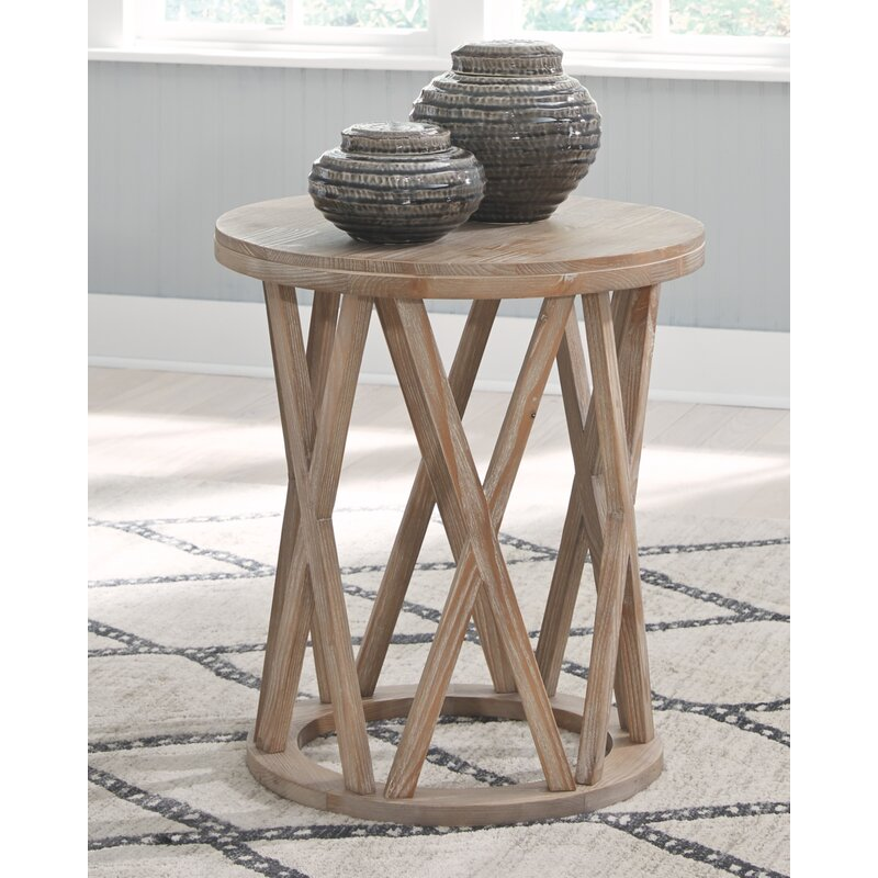 Solid Wood Frame End Table