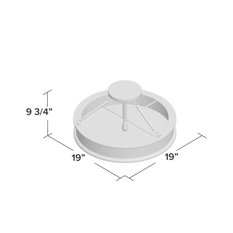 "Everlee 3 - Light 19"" Shaded Drum Semi Flush Mount"