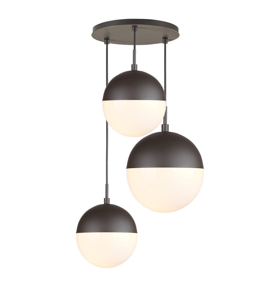 Cedar & Moss Mixed Globe 3-Light Multipendant