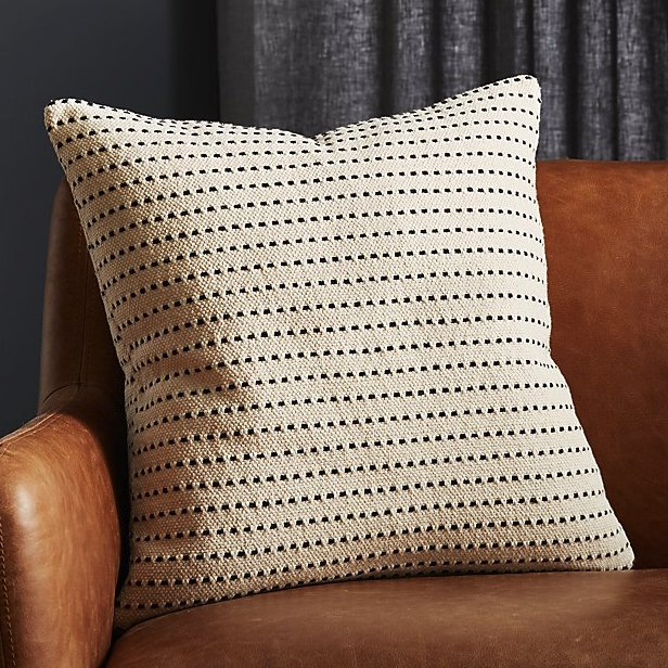 """20"""" clique white pillow with feather-down insert"""