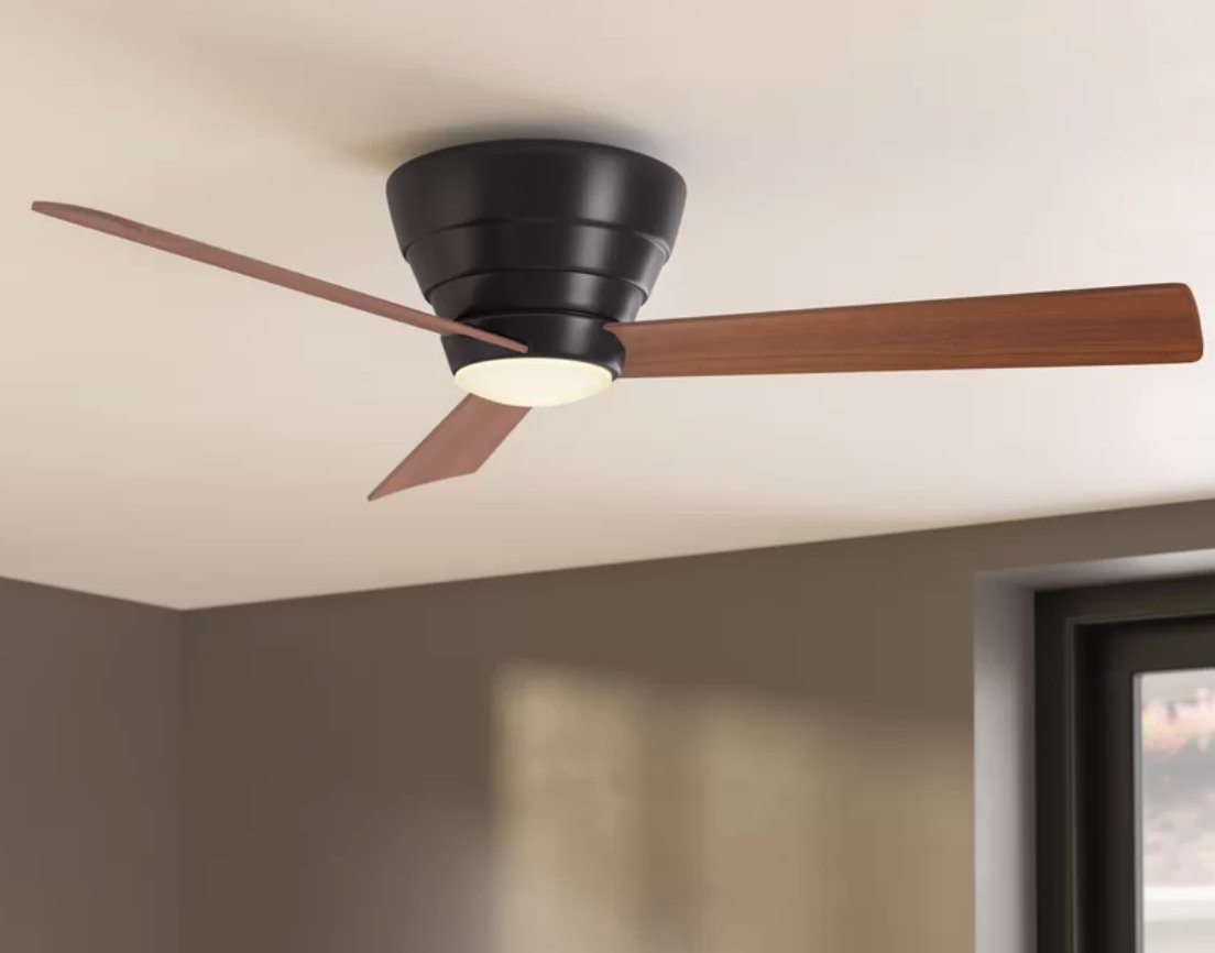 """54"""" Malik 3 Blade LED Ceiling Fan with Remote, Light Kit Included"""