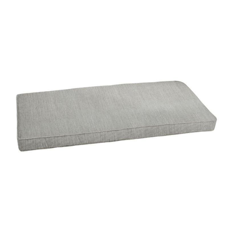 Canvas Granite Indoor/Outdoor Sunbrella Bench Cushion