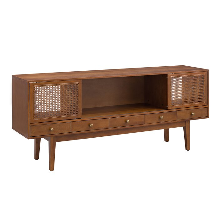 """George Oliver Dwight TV Stand for TVs up to 70"""" in Dark Tobacco"""