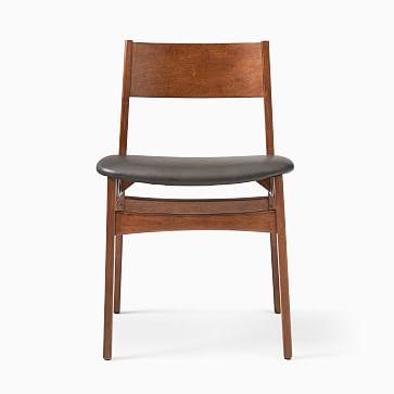 Baltimore Dining Chair, Vegan Leather, Saddle, Walnut