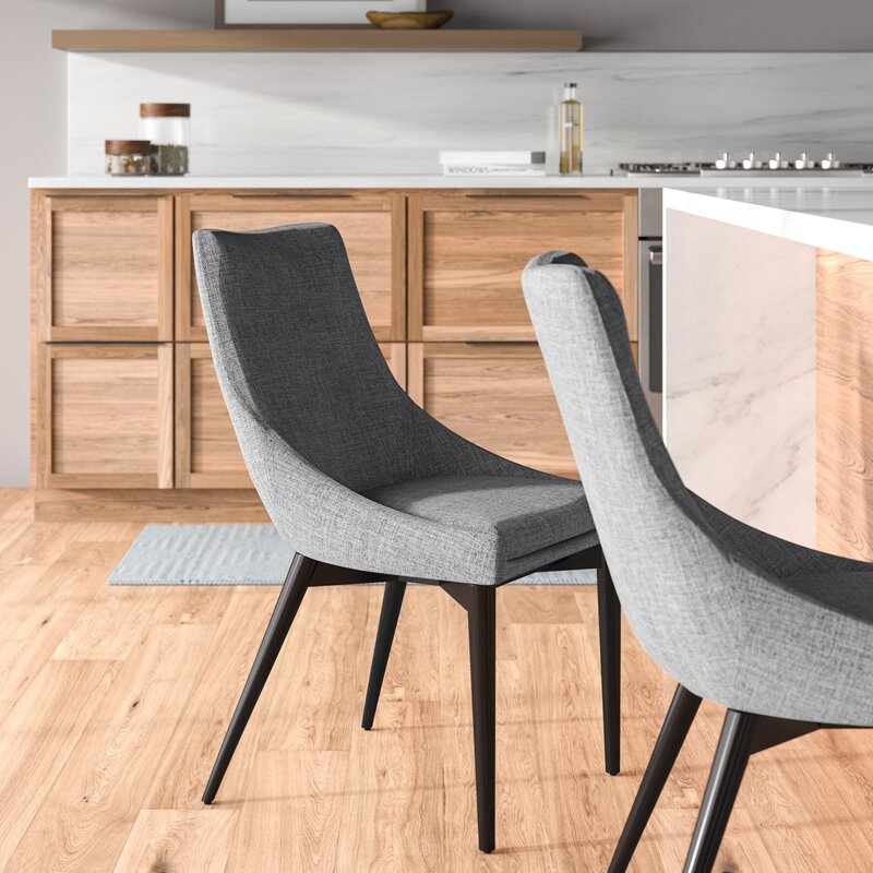 Cade Solid Wood Upholstered Dining Chair