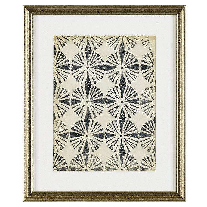 Ballard Designs Petite Vintage Blockprint Art   Print  