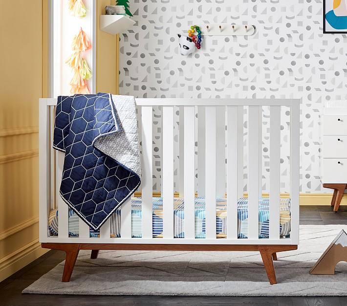 west elm x pbk Modern Crib, White Lacquer, UPS