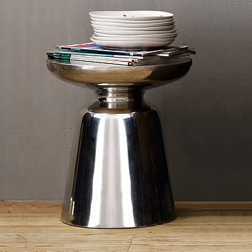 Martini Side Table, Antique Brass