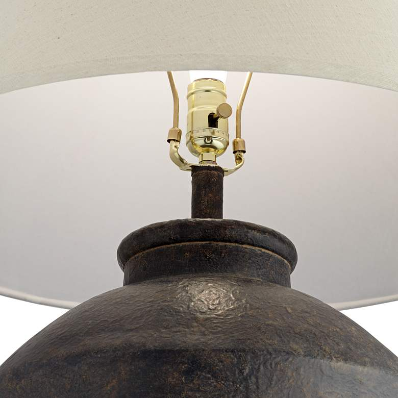 Massa Black Terracotta Jar Table Lamp - Style # 70X06