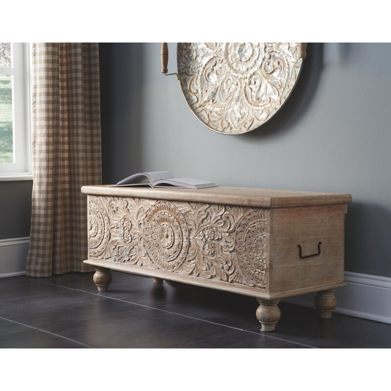 Belle Haven Wood Storage Bench