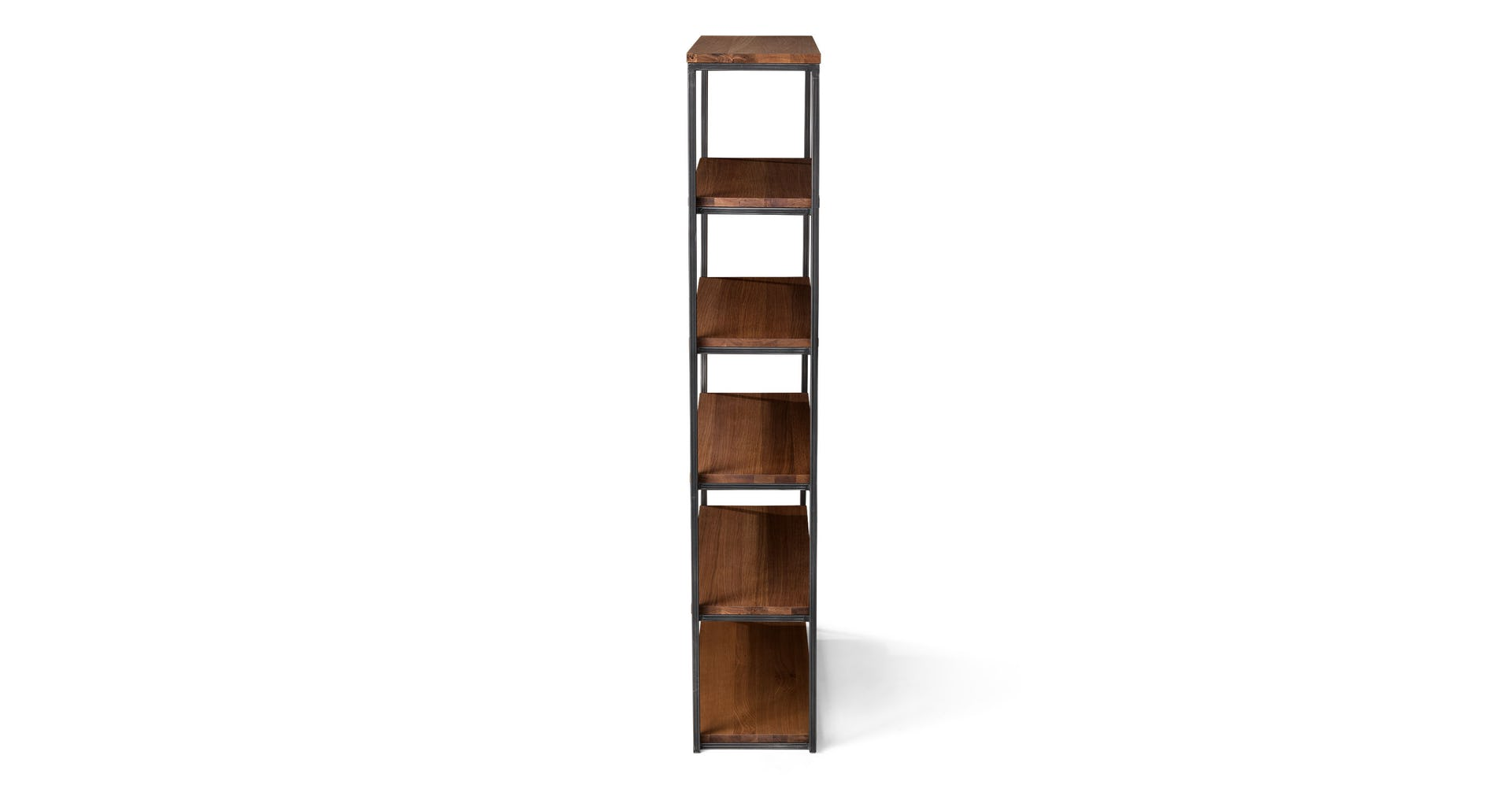 "Archive Walnut 77""H Wide Bookcase"