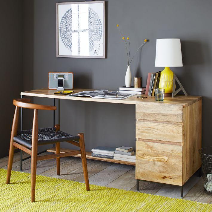 Industrial Storage Modular Desk, Set 1: Desk + Box File
