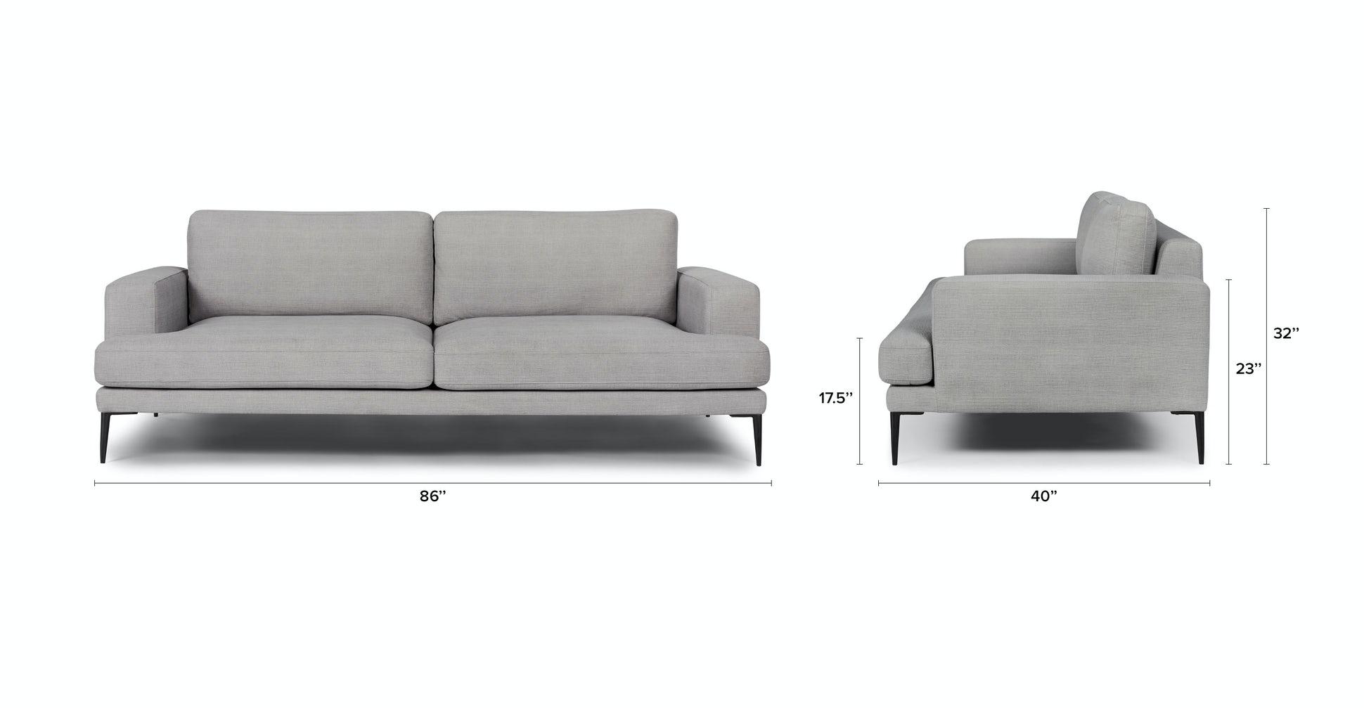 Famili Haze Gray Sofa