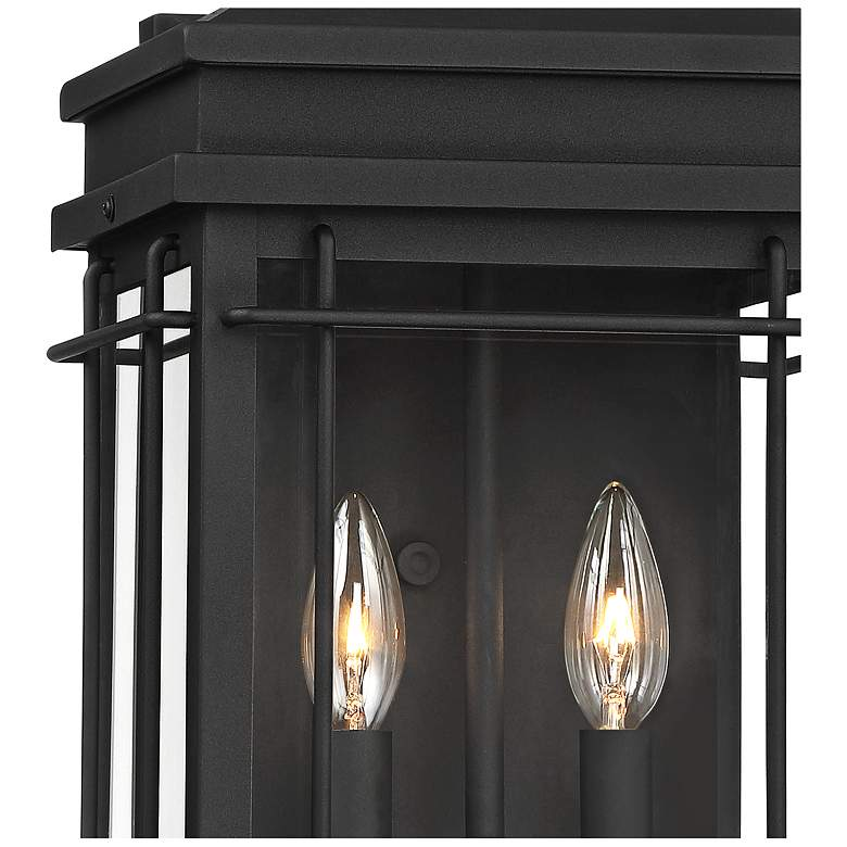 """Rotherfield 17"""" High Textured Black Outdoor Wall Light - Style # 42R18"""