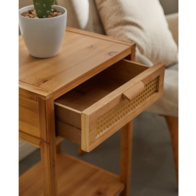 Armands 1 - Drawer Nightstand in Light Brown