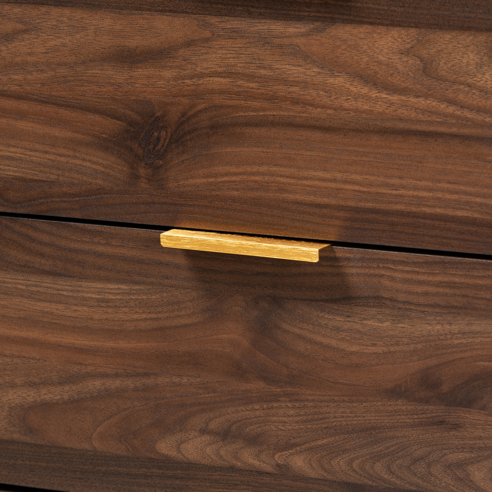 Lena Mid-Century Modern Walnut Brown Finished 6-Drawer Wood Dresser