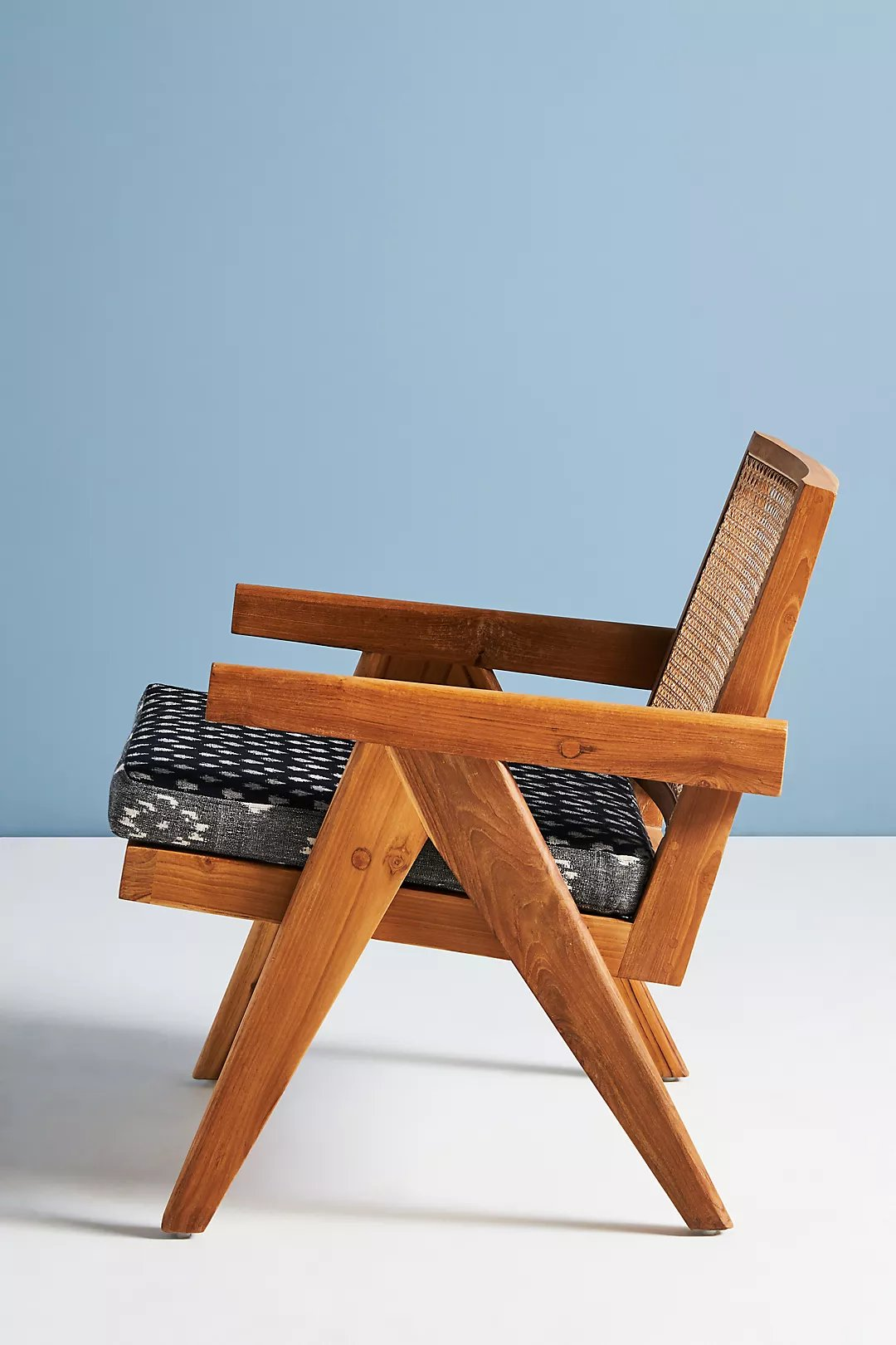 Ashton Caned Teak Accent Chair By Anthropologie in Black