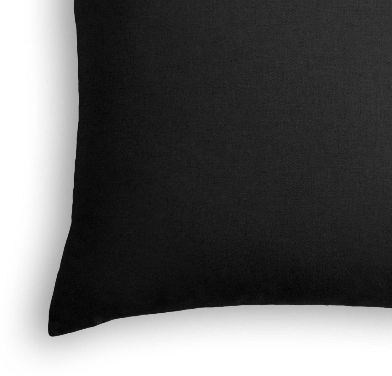 """Classic Linen Pillow, Black, 22"""" x 22"""""""