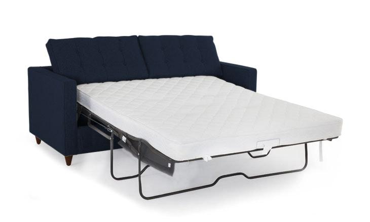 Braxton Sleeper Sofa- Bentley Indigo- Mocha