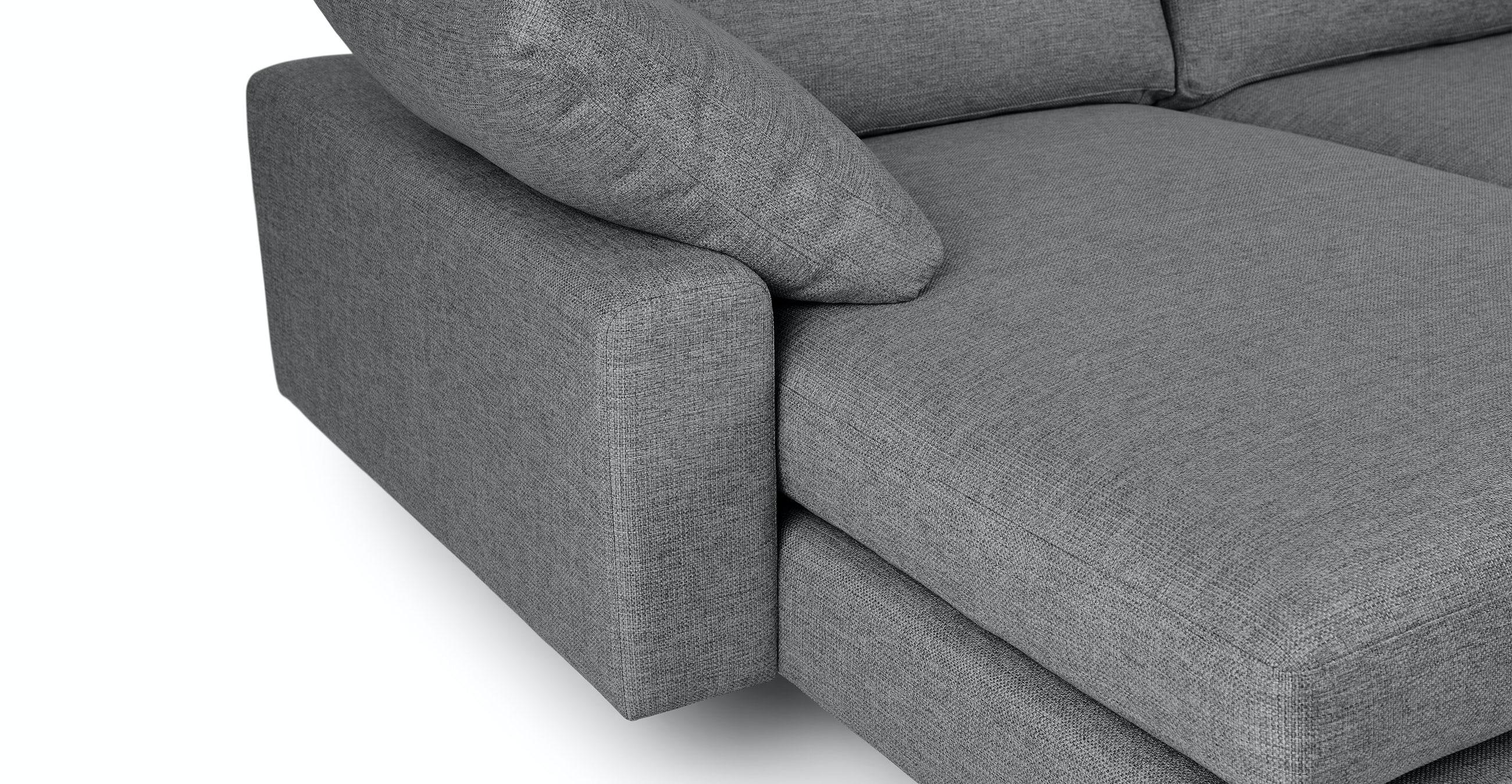Nova Gravel Gray Reversible Sectional
