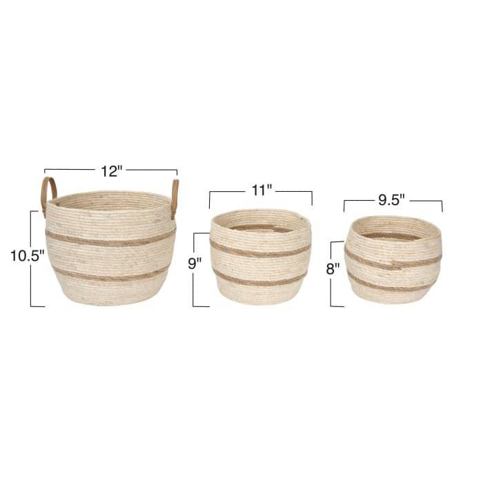 Shiloh Baskets, Set of 3