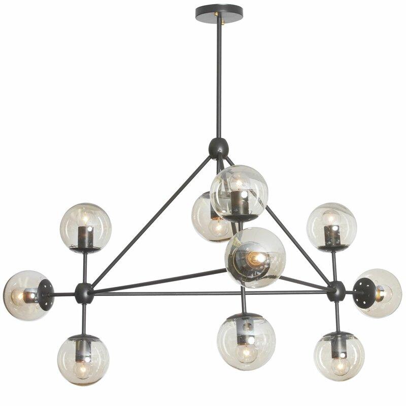 Frederick 10-Light Sputnik Modern Linear Chandelier