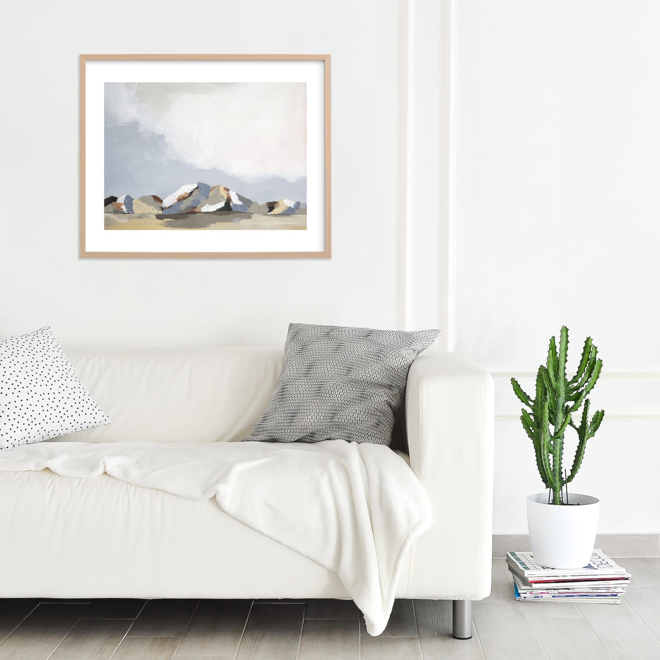 "Sundown In The Chisos Art Print - 30"" x 24"" Natural Raw Wood Frame"
