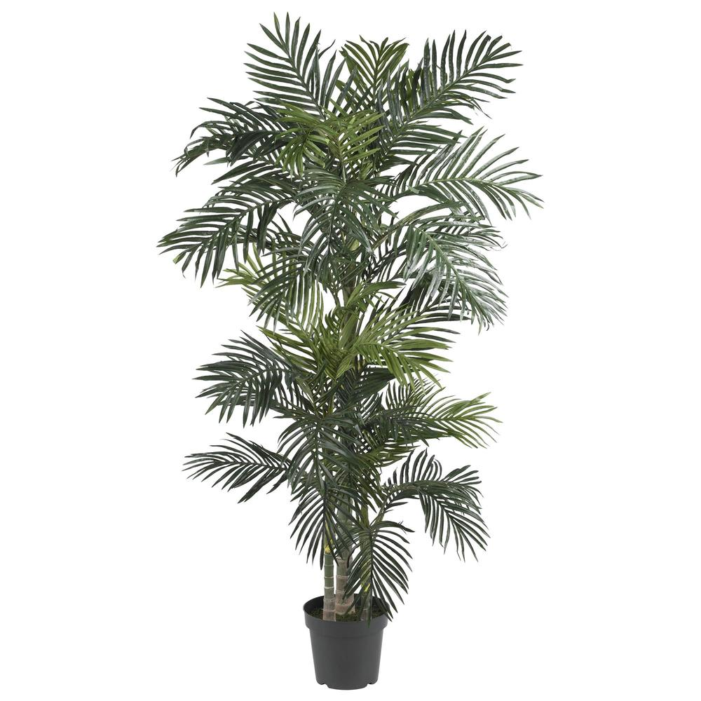 6.5' Silk/Artificial Tree - Fake Golden Cane Palm
