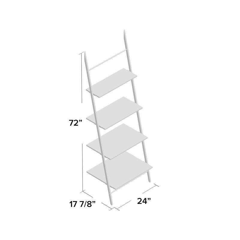 Lyles Claret Ladder Bookcase