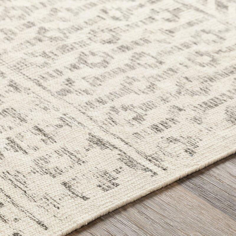 Kenya Handwoven Cotton Charcoal/Beige Rug