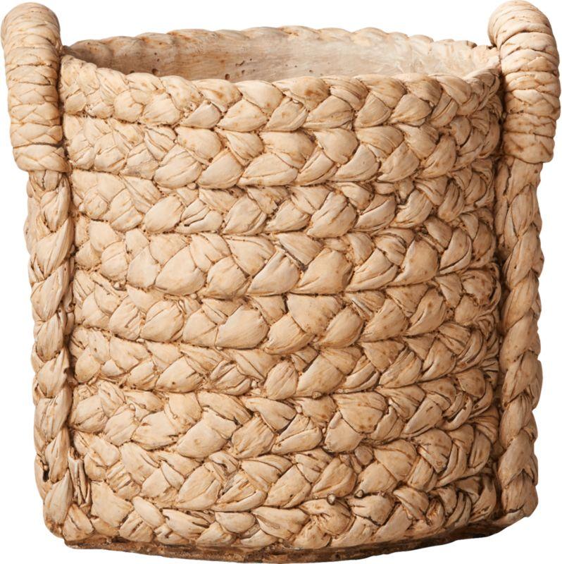 Cement Basket Large Planter