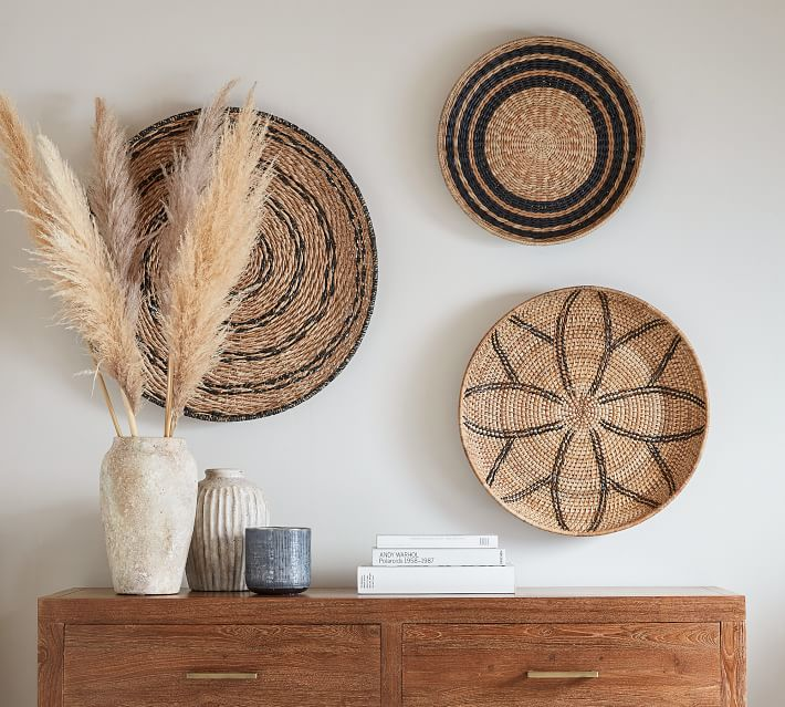 Dried Pampas Grass Branches, Natural - Set of 3