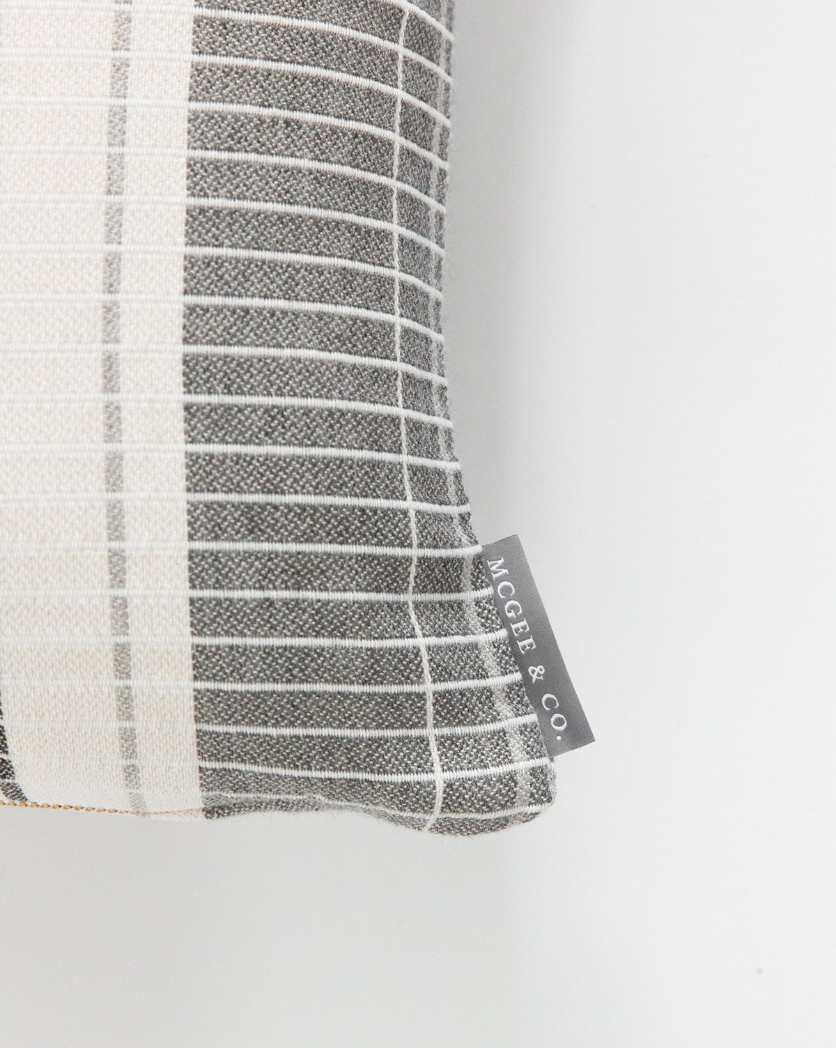 """OXFORD WOVEN PLAID WITHOUT INSERT, GRAY, 14"""" x 20"""""""