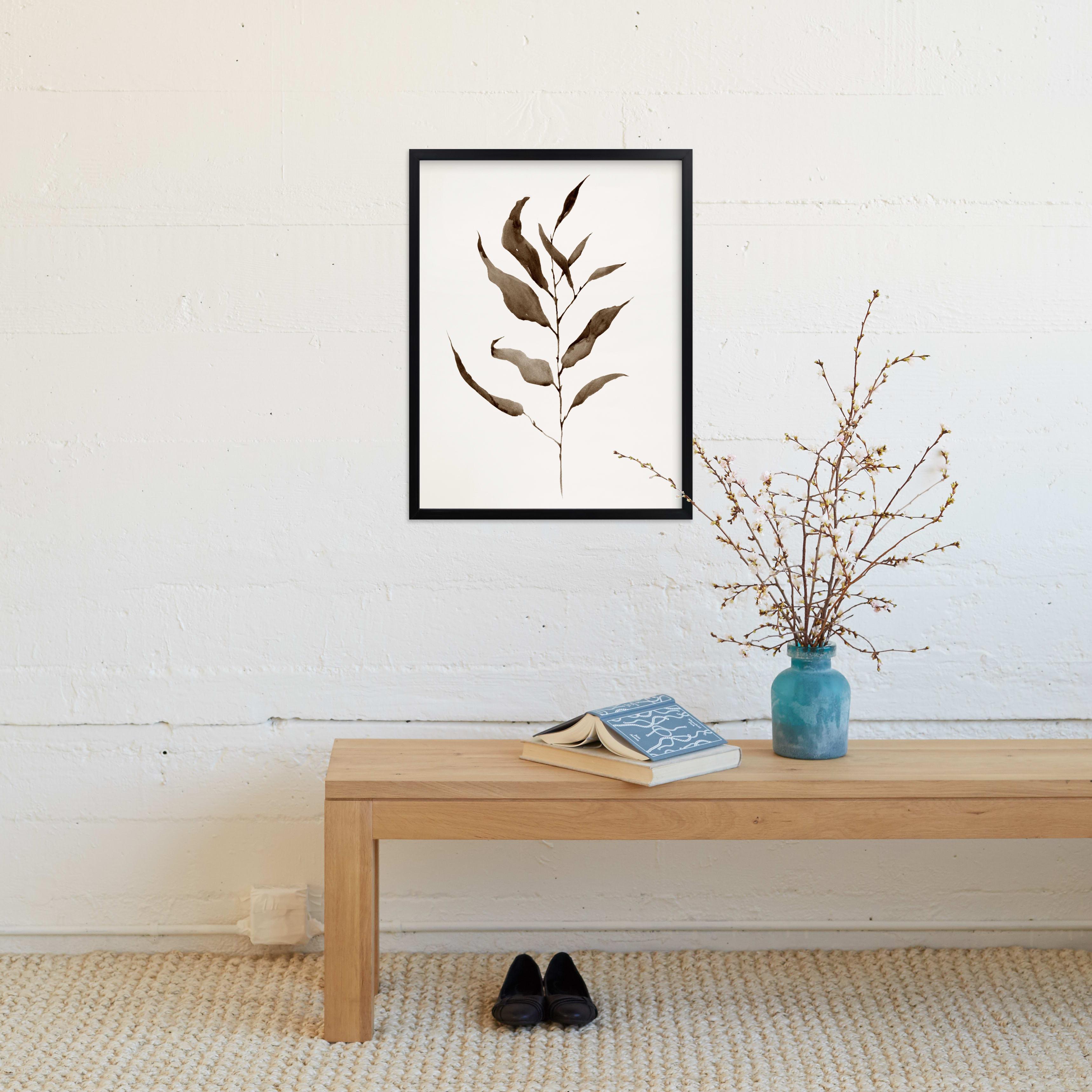 "Eucalyptus Foliage  18"" x 24"" Rich Black Wood Frame- Eucalyptus Vintage"