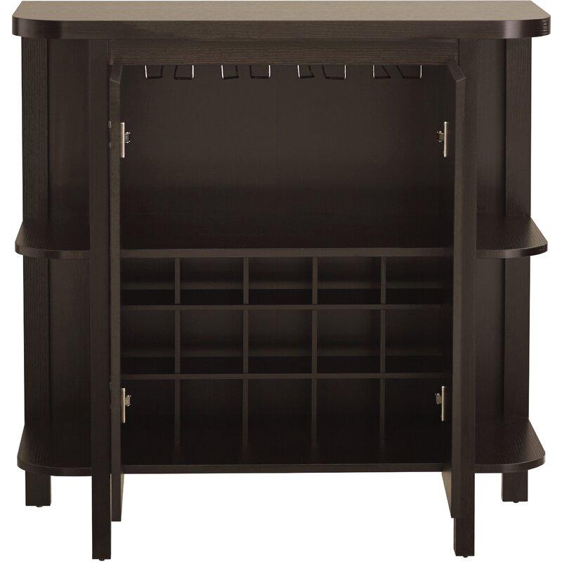 Spraggins Bar Cabinet with Wine Storage