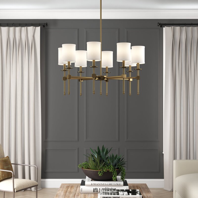 Keeling 8 - Light Shaded Classic / Traditional Chandelier
