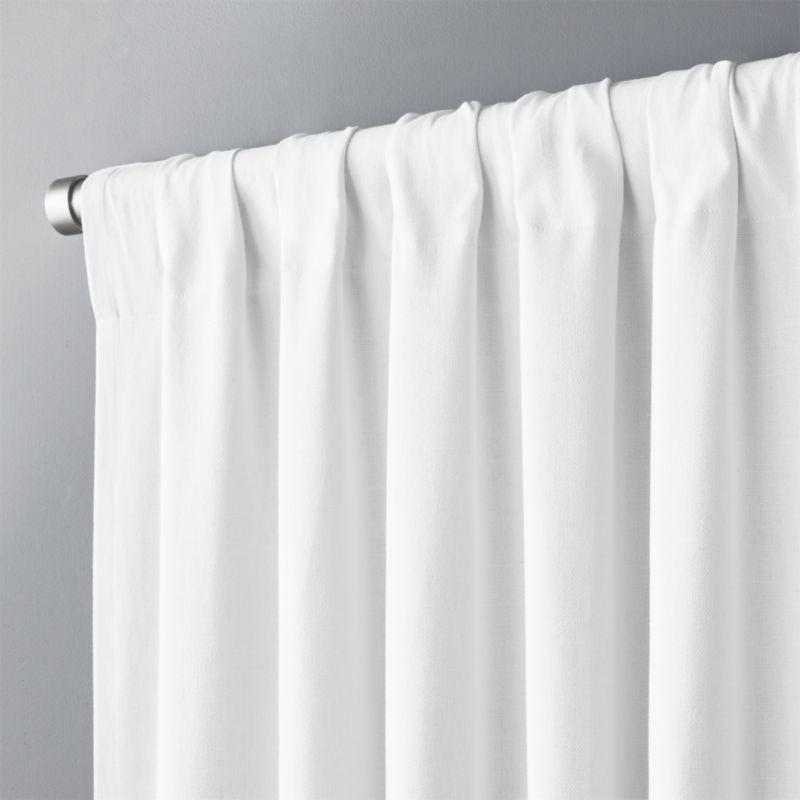 """White Basketweave II Curtain Panel 48""""x96"""""""