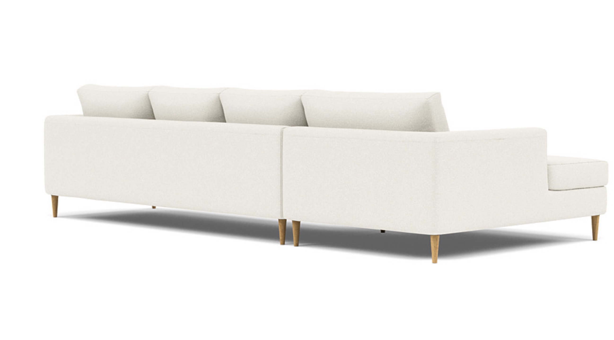 Asher 4-Seat Left Chaise Sectional, Kid/Pet Friendly Fabric