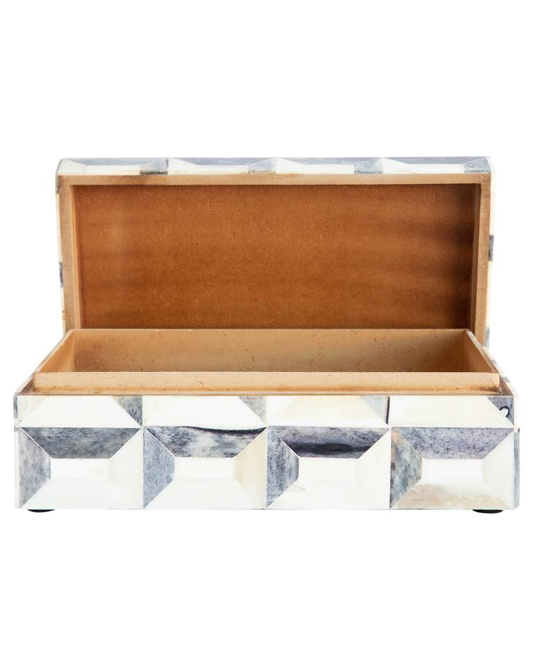 GRAY GEO BOX - LARGE