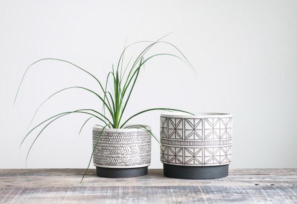 Leknes Stoneware Planters, Set of 2