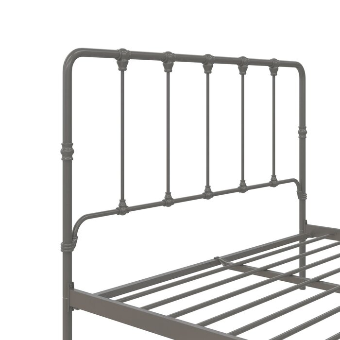 Viviana Farmhouse Metal Platform Bed