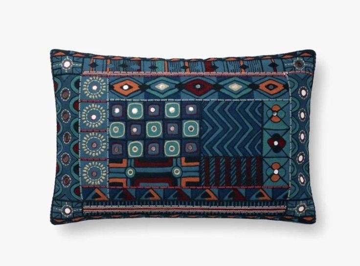 P0774 BLUE / MULTI Pillow