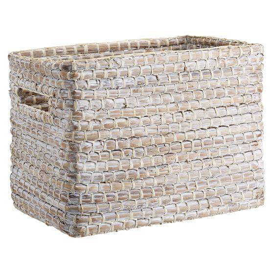Naturalist Woven Storage Bins, Medium, Set Of 2, Natural Woven