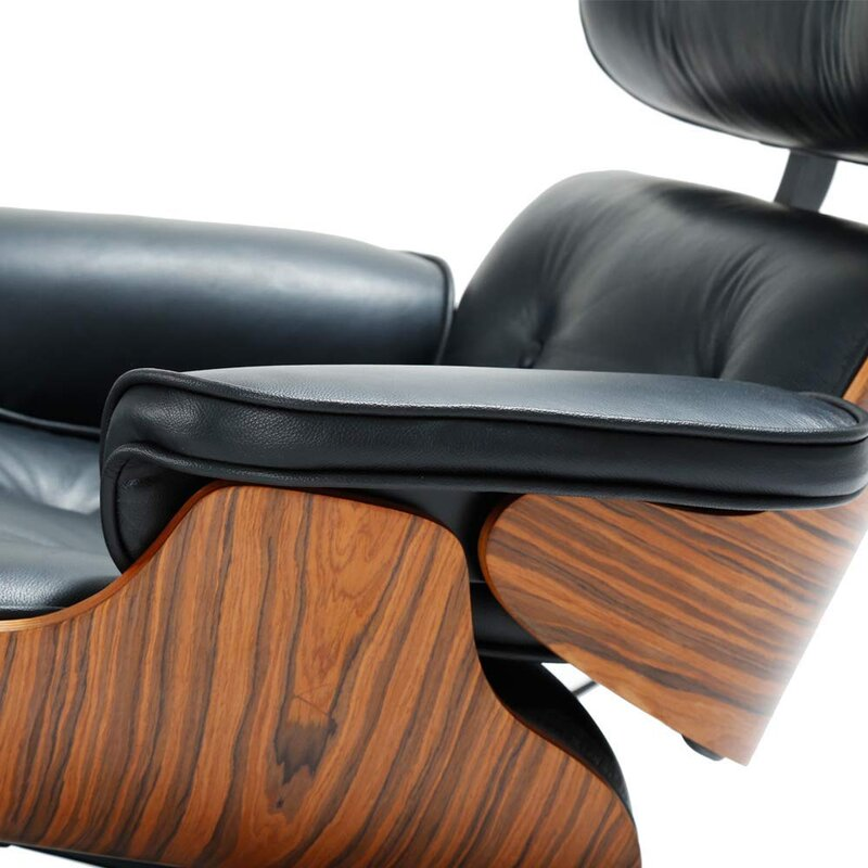 """Sueann 31.9"""" W Tufted Genuine Leather Top Grain Leather Swivel Lounge Chair and Ottoman"""