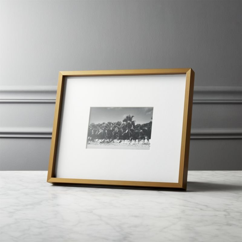 Gallery Brass Frame with White Mat 8x10