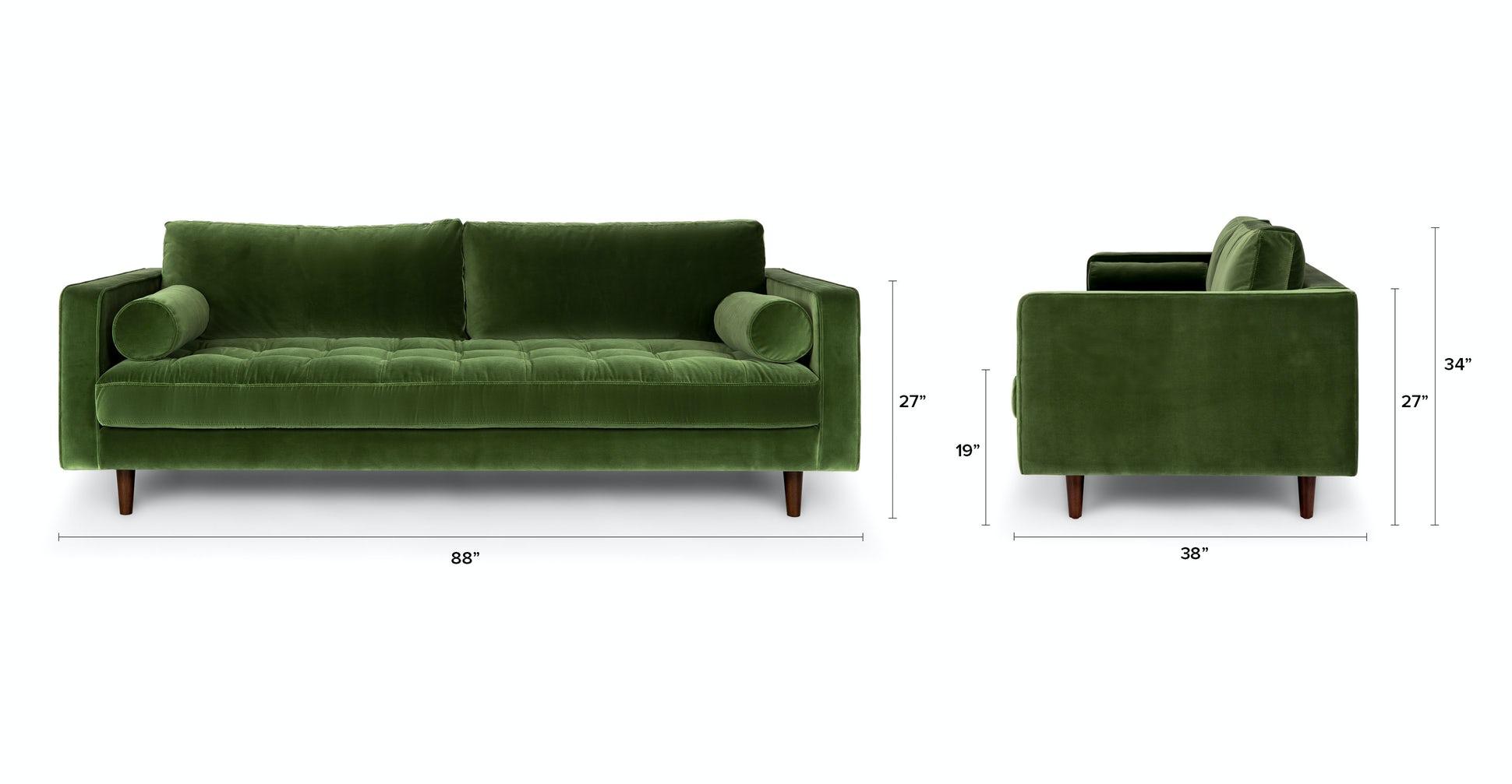 Sven Cascadia Grass Green Sofa