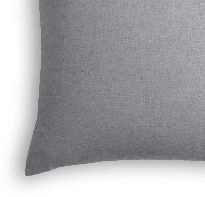 """Classic Linen Pillow, Cement, 18"""" x 18"""""""