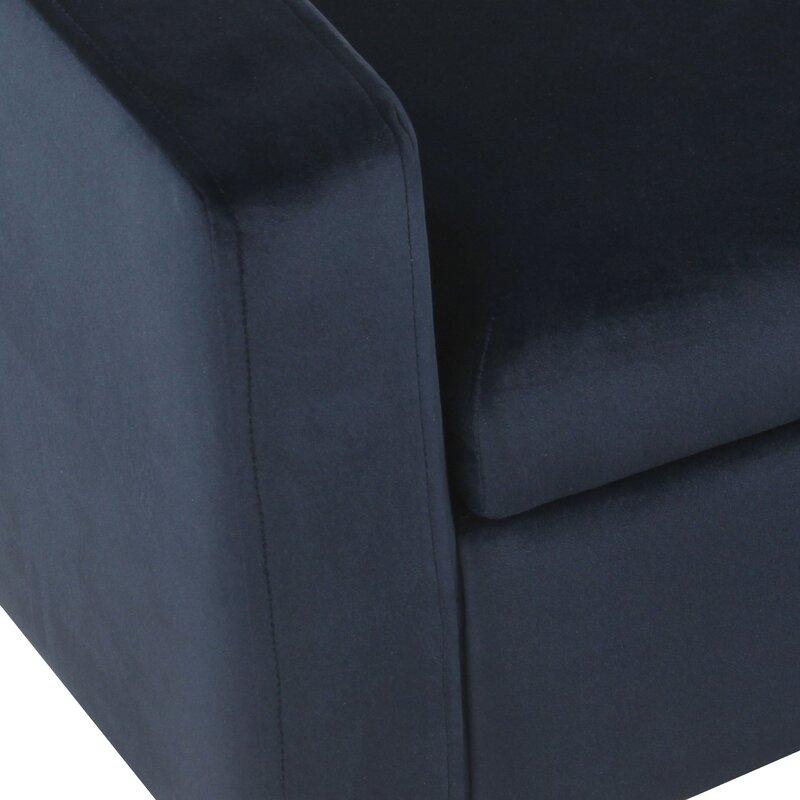 Mosier Upholstered Storage Bench, Dark Navy