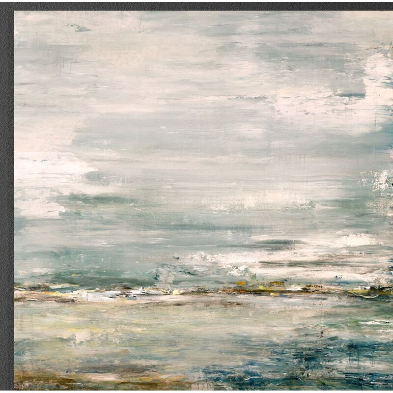"""John Beard Collection 'Sea and Sky' Painting on Canvas Size: 40"""" H x 40"""" W x 1.5"""" D"""